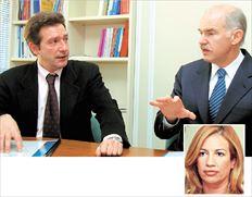 Ο Γ. Καμίνης με τον Πρωθυπουργό, όταν ο τελευταίος είχε επισκεφτεί  τα  γραφεία του Συνηγόρου του Πολίτη παλαιότερα. Πρέπει να σημειωθεί   ότι ο κ. Καμίνης απολαύει της εκτίμησης του Γιώργου Παπανδρέου.   Υπενθυμίζεται ότι εξακολουθεί να αντιμετωπίζεται ως φαβορί για τον  δήμο  της πρωτεύουσας η υφυπουργός Υγείας Φώφη Γεννηματά