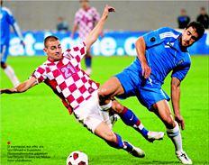 Ο κορυφαίος και χθες για  την Εθνική ο Σωκράτης  Παπασταθόπουλος µαρκάρει  τον Πέτριτς. Ο άσος της Μίλαν  ήταν αλάνθαστος