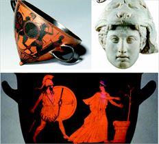 Χάλκινο κορινθιακό κράνος που χρονολογείται   µεταξύ  του 700 και  500 π.Χ.