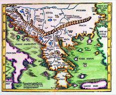 Σωστή για  την εποχή της απεικόνιση   της Εύβοιας από τον  Francesco  Ferretti (1579-1580) σε έναν  µικρό (13,2Χ9  εκ.) µεν, αλλά  αξιόλογο χάρτη  από τη συλλογή  του ΜΙΕΤ