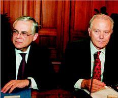 Λουκάς Παπαδήµος και Γιώργος Προβόπουλος, αλλά και τραπεζίτες στους οποίους έχει εµπιστοσύνη η κυβέρνηση, συµµετείχαν στις µυστικές συνοµιλίες µε στελέχη των Βρυξελλών προκειµένου να οριστικοποιηθεί το σχέδιο για την αναδιάρθρωση του ελληνικού χρέους