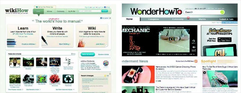 Τα «WikiHow» και «WonderHowTo» είναι δύο από τις πιο γνωστές ιστοσελίδες «κάν' το µόνος σου»